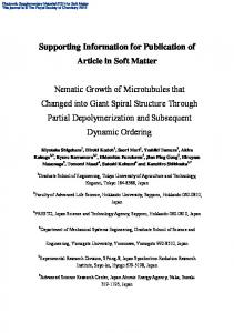Supporting Information for Publication of Article in Soft Matter Nematic ...