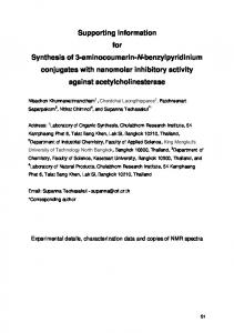 Supporting Information for Synthesis of 3 ... - Beilstein Journal