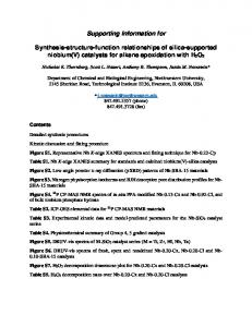 Supporting Information for Synthesis-structure ...