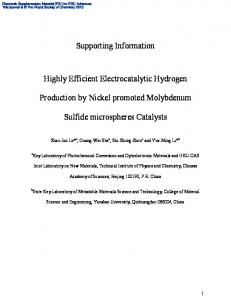 Supporting Information Highly Efficient Electrocatalytic Hydrogen