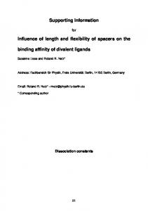 Supporting Information Influence of length and ... - Beilstein Journal
