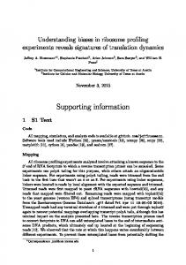 Supporting information - PLOS