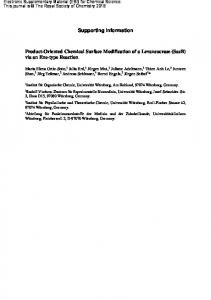 Supporting information Product-Oriented Chemical Surface