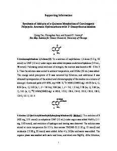 Supporting Information Synthesis of Adducts of o