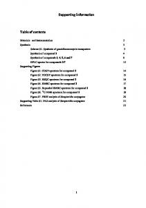 Supporting Information Table of contents