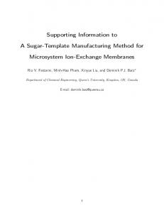 Supporting Information to A Sugar-Template ... - IOPscience