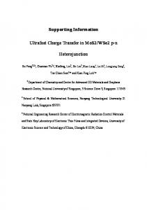 Supporting Information Ultrafast Charge Transfer in ... - IOPscience