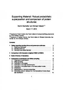 Supporting Material: Robust probabilistic