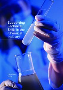 Supporting Technical Skills in the Chemical Industry