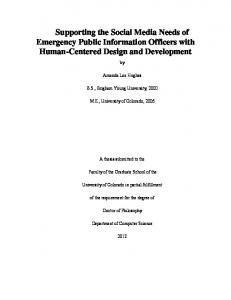 Supporting the Social Media Needs of Emergency Public Information ...