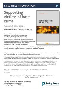Supporting victims of hate crime