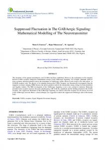Suppressed Fluctuation in The GABAergic Signaling ...