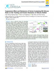 Suppression Effect and Mechanism of Amine ... - ACS Publications