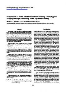 Suppression of Atrial Fibrillation after Coronary