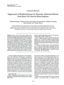 Suppression of Kindled Seizures by Paracrine ... - Wiley Online Library