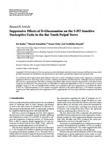 Suppressive Effects of D-Glucosamine on the 5-HT Sensitive ...
