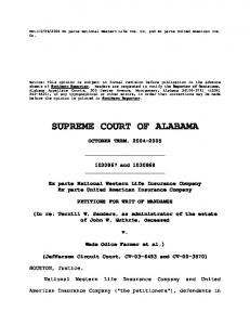 SUPREME COURT OF ALABAMA