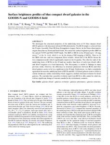 Surface brightness profiles of blue compact dwarf galaxies in the ...