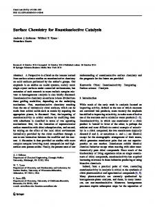 Surface Chemistry for Enantioselective Catalysis - Springer Link