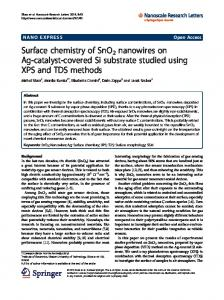 Surface chemistry of SnO2 nanowires on Ag-catalyst-covered Si ...