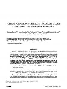 Surface complexation modeling in Variable charge SoilS ... - SciELO