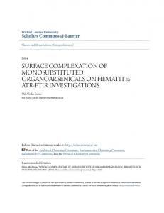 surface complexation of monosubstituted ... - CiteSeerX