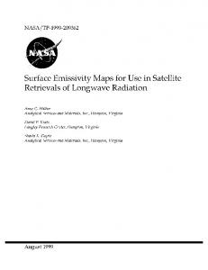 Surface Emissivity Maps for Use in Retrievals of ... - CAVE - NASA