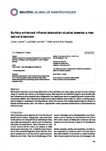 Surface-enhanced infrared absorption studies ... - Beilstein Journals