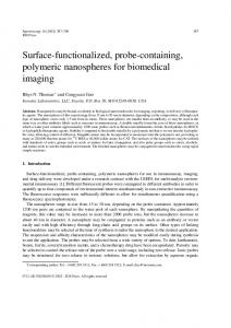 Surface-functionalized, probe-containing, polymeric ... - CiteSeerX