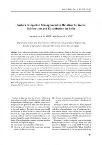 Surface Irrigation Management in Relation to ... - Agricultural Journals
