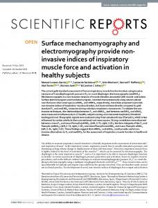 Surface mechanomyography and electromyography