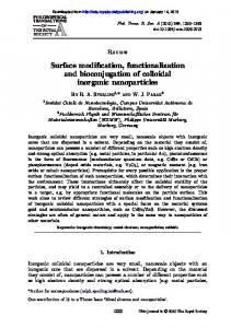 Surface modification, functionalization and