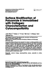 Surface Modification of Polyamide 6 Immobilized with ...