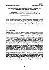 surface modification of polyamide via grafted chitosan ...