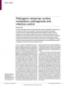 surface modulation, pathogenesis and infection control