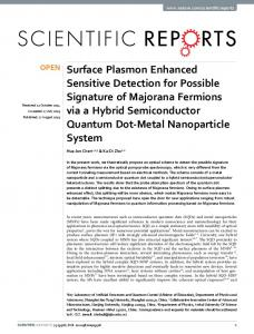 Surface Plasmon Enhanced Sensitive Detection for ...
