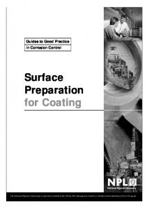 Surface Preparation for Coating - National Physical Laboratory