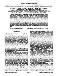 Surface structure determination of Pd ultrathin films on Ru(0001