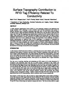 Surface Topography Contribution to RFID Tag ...