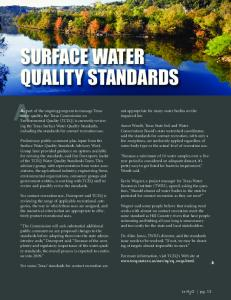surface water quality standards