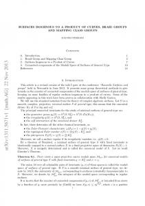 SURFACES ISOGENOUS TO A PRODUCT OF CURVES, BRAID ...