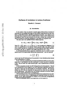 Surfaces of revolution in terms of solitons