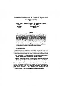 Surfaces Parameterized in Degree 2: Algorithms and Applications - Inria
