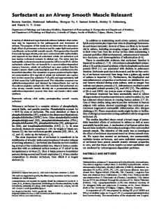 Surfactant as an Airway Smooth Muscle Relaxant - ATS Journals