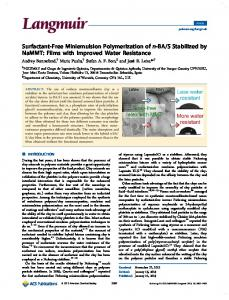 Surfactant-Free Miniemulsion Polymerization of n ... - ACS Publications