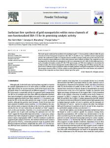 Surfactant free synthesis of gold nanoparticles within