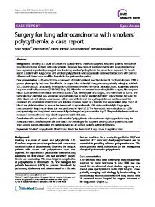 Surgery for lung adenocarcinoma with smokers ... - BioMed Central