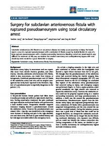 Surgery for subclavian arteriovenous fistula with ... - Springer Link