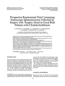 Surgerywith Surgery Alone in Good Risk - BioMedSearch