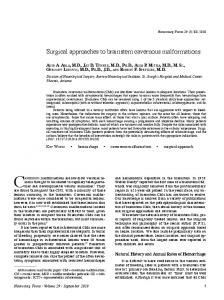 Surgical approaches to brainstem cavernous malformations